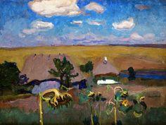 Sunflowers by Jan Stanislawski, 1905 (PD-art/old), Muzeum Narodowe w Krakowie (MNK)
