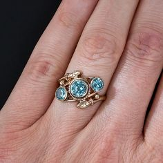 Vintage Blue Zircon Ring - Lang Antiques