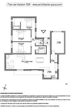 plan de maison plein pied gratuit 3 chambres homeplans pinterest construction ideal house and house - Plan Gratuit De Maison Plain Pied