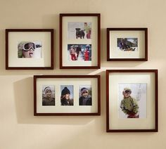 Gallery in a Box - Wood Gallery Frames | Pottery Barn for our new family Pics and Cece's Sr. pics