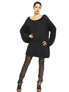 OVERSIZE LUREX AND WOOL SWEATER