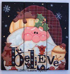 Santa Believe Square grooved board