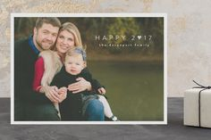 Happy Heart foil pressed holiday photo card by Up Up Creative for Minted