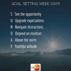 Sunday  like everyday is a great day to move your goals forward. Here's some ways Sunday can help your success.