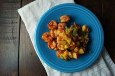 Grilled Sambal Shrimp with Peach Salsa  Recipe on Food52 recipe on Food52