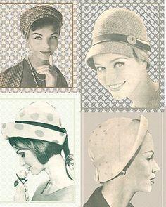A variety of vintage hats. Moda Vintage, Retro Vintage, Retro Outfits, Vintage Outfits, Vintage Fashion 1950s, Hat Boxes, Love Hat, Hat Making, Vintage Images
