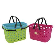 Pekky Small Colored Handle Baskets for Bathroom, Health and Beauty Products. For product info go to: https://all4babies.co.business/pekky-small-colored-handle-baskets-for-bathroom-health-and-beauty-products/