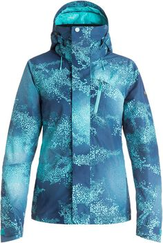 : Roxy Snow Junior's Wilder Printed Gore-Tex Tailored Fit Snow Jacket Cloudofdots L. Vest Jacket, Hooded Jacket, Roxy Ski, Snowboarding Outfit, Snowboards, Gore Tex, Jackets Online, Parka, Skiing