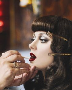 Gorgeous 1930's inspired modern beauty, vintage glamour and vintage style