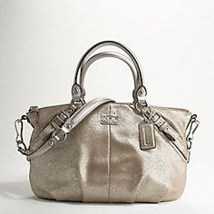 Coach Madison Leather Sophia Satchel - shimmer (L O V E  the color and shimmer on this satchel)