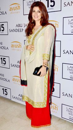 Twinkle Khanna at Lakme Fashion Week Winter/Festive 2015 opening show. #Bollywood #LFW2015 #Fashion #Style #Beauty #Desi #Classy