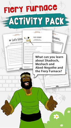 Miracles of the Bible: Fiery Furnace workbook Family Bible Study, Bible Study Guide, Study Guides, Study Tips, Bible Lessons For Kids, Bible For Kids, Bible Activities, Learning Activities, Fiery Furnace