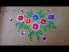 New Rangoli Designs With Colours - Flower Designs for Functions - Rangoli By Maya! - YouTube