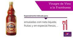 #Ensaladas con nata, para aderezar #fruta… ¡descubre el increíble sabor de tus platos con #vinagre de #frambuesa!