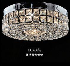 Современная мода краткое стиль кристалл лампы chrome потолочные светильники прихожей светильники Dia300x90mm спальня лампы высокого качества