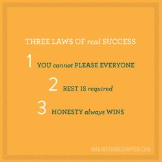 3 Laws of real Success