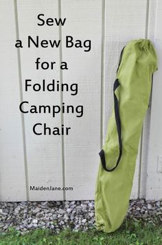 Sew a New Bag for a Folding Camping Chair – DIY – Tutorial | Maiden Jane