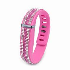 241fbdeb2 Fitbit Flex Pink Replacement Band with Crystal and Rose Swarovski Elements  - Sheer Elegance Collection
