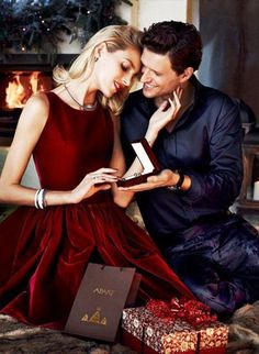 A Fine Romance - An open fire, beautiful attire, love and care ... a romantic gift for a very special lady.
