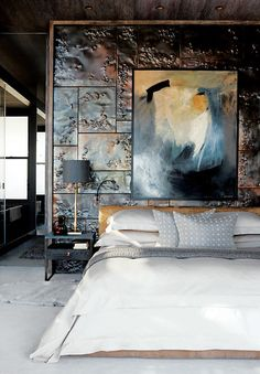 Urban Luxury Penthouse in Cape Town - Interior Design Ideas, Home Designs, Bedroom, Living Room Designs Decoration Inspiration, Interior Inspiration, Decor Ideas, Layout Inspiration, Interior Architecture, Interior And Exterior, Luxury Penthouse, Minimalist Painting, Minimalist Art