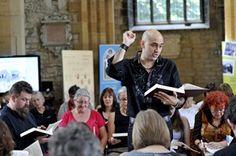 Tim Eriksen bei einem Sacred-Harp-Workshop | Artikel über Sacred Harp im FOLKER