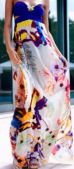 Bandeau Dress ?? maxi dress #emma875 #style for women #womenfashionwww.2dayslook.com