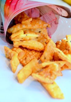 Nimkis are salty crackers made with flour and flavored with a little bit of toasted black cumin seed. Since they are deep-fried, you can store them for a longer period of time weeks) in a air… Crackers, Fries, Chicken, Cooking, Projects, Blog, Cuisine, Kitchen, Blogging