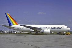 O Boeing 767 da Transbrasil foi o primeiro do tipo na América Latina (Christian Volpati) United Airlines, Ana Airlines, Aviation News, Civil Aviation, Air France, American Airlines, Airline Logo, Boeing Aircraft, Nose Art