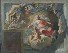 The Assumption of the Virgin: study for a wall decoration Manchester Art, Religious Art, Art Gallery, Wall Decor, Christian, Study, Painting, Collection, Decoration