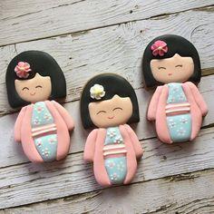 Galletas Cookies, Kokeshi Dolls, Ethnic, Instagram
