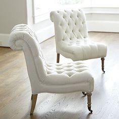 Decor Look Alikes | Ballard Designs Cecily Armless Chair $699 vs $349.99 @Cost Plus World Market  or $253 @Wayfair.com