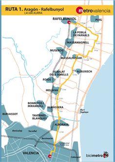 Metrovalencia - Bicimetro - The Xurra Greenway
