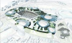 11 of the top architecture firms including zaha hadid, UNStudio and toyo ito have been shortlisted in the new national stadium japan competition. Tadao Ando, Norman Foster, Unusual Buildings, National Stadium, Architecture Images, Toyo Ito, Zaha Hadid Architects, Design Competitions, Environment Design