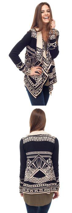 Cute Sweater! Love the back. #Fall #winter #fashion #cardigan