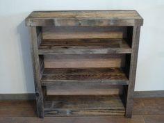 Bookshelf made out of old barnwood
