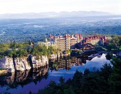 The Mohonk Mountain House, also known as Lake Mohonk Mountain House, is a historic American resort hotel located on the Shawangunk Ridge in Ulster County, New York, USA