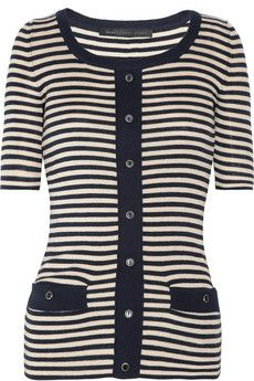 Marc by Marc Jacobs striped silk cotton and cashmere blend sweater