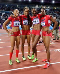 Gold medalist for team USA in women's Track & field   4x400-meter relay