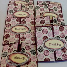 3x3 thank you cards stampin up