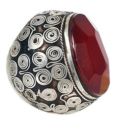 Afghanistan | Vintage silver and carnelian ring | 300£