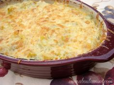 I lightened up one of my family's favorite dips and it's still delicious! Lightened Up Artichoke and Green Chile Dip