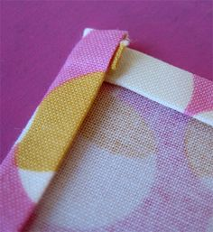 Mitered and non-mitered corners for napkins.