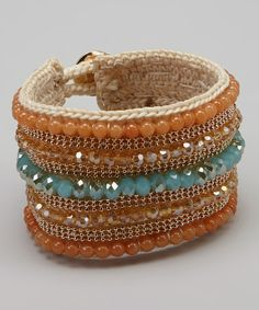 Take a look at this Chalcedony & Coral Bracelet on zulily today!