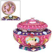 Disney Alice in Wonderland Music Box Queen of Hearts RARE Trinket Jewelry Box | eBay