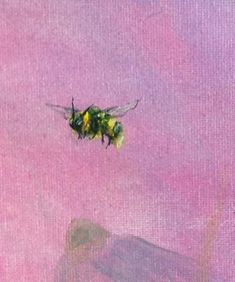 The bumblebee is such a sweet looking insect. Love to paint them.