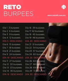 Reto de burpees. Haz este super ejercicio un mes y comprueba los resultados.  #instafit #RetoInstaFit #burpees www.instafit.com