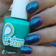 repost via @instarepost20 from @3girlsnails Got in the mood for a little watermarble yesterday, so naturally pulled out my #pipedreampolish A night in vegas collection! I used vip pass & happy hour for this one with a little sally hansen black out thrown in as well. The glitter top is #maybelline cystal disguise and topcoat is #hkgirltopcoat from @glistenandglow1. Used my #cleanupbrush from#joliepolishbrush! #watermarble #pipedreampolish #purple #black #blue #sallyhansen #nailartwow…