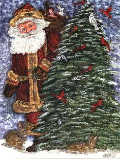 Santa Claus on the Rooftop 2-Sided Garden Flag