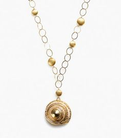 Spiral Shell Necklace by Elephant Heart Jewelry
