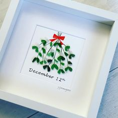 "161 Likes, 16 Comments - Fife Seaglass (@fifeseaglass) on Instagram: ""Mistletoe. Anniversary picture for a lovely couple. #fifeseaglass #seaglassart #seaglassartist…"""